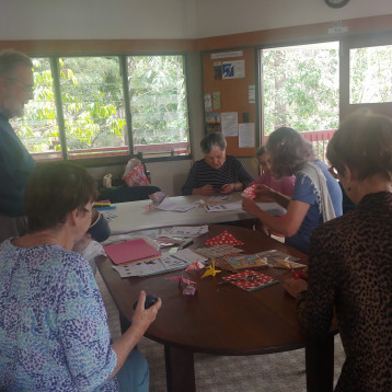 Friends in Brisbane, Australia learn the Japanese art of origami